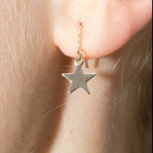 🌟NEW Brandy Melville Gold Star Mini Drop Earrings
